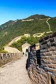 picture of qin dynasty  - Walking on the great wall of China on a sunny day - JPG