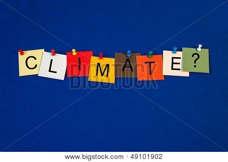 Climate - Sign Series.