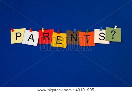 Parents - Sign Series.