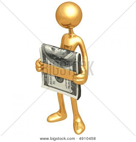 Holding A Money Clip