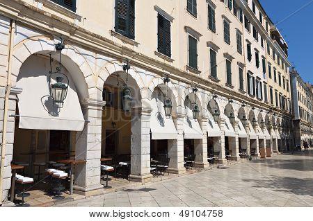 The Liston area at Corfu island