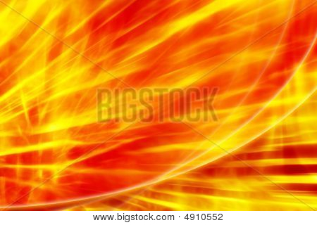 Fire Abstract Red - Yellow Background