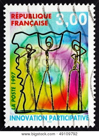 Postage Stamp France 1997 Wire Characters