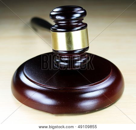 Dark Wooden Gavel