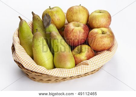 Basket Of Apples And Pears