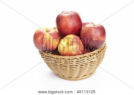 Basket Of Nectarines