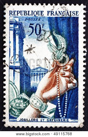 Postage Stamp France 1954 Jewelry And Metalsmith's Work
