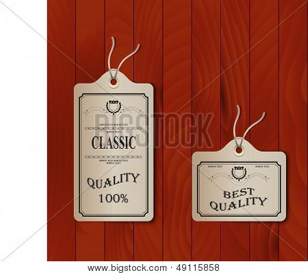 Paper tags on overlay background