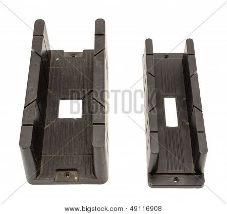 Angle Cut Miter Boxes Tools Size Isolated On White