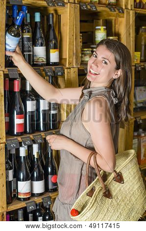 Wine In A Rustic Shop