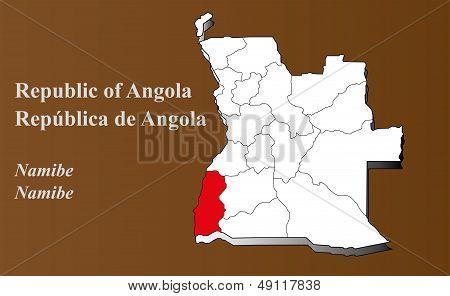 Angola - Namibe Highlighted