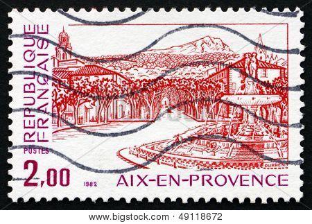 Postage Stamp France 1982 Renaissance Fountain, Aix-en Provence