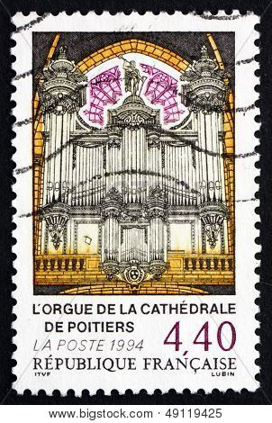 Postage Stamp France 1994 Organ, Poiters Cathedral
