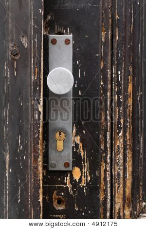 Old Door With Doorlock