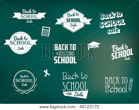 Back to School Retro Style Elements