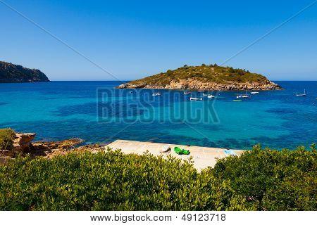Pantaleu Island In Gemec Cove, San Telmo, Mallorca