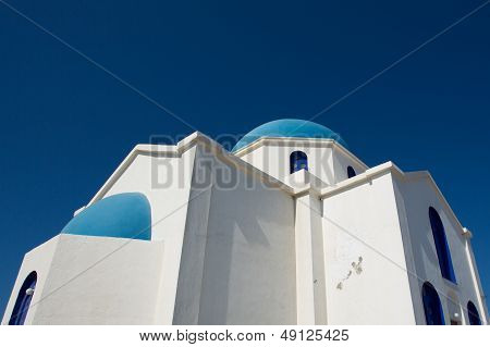 Gorgeous Blue And White Orthodox  Church