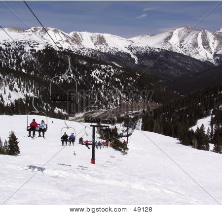 Chairlift At Loveland