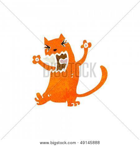 retro cartoon cat fighting