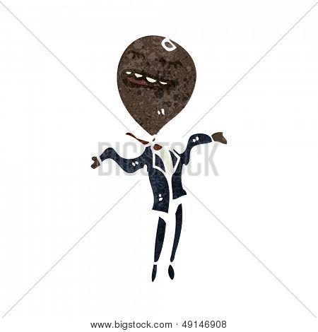 retro cartoon ego businessman
