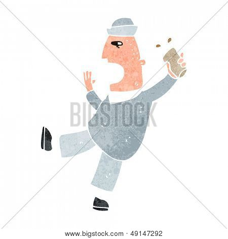 retro cartoon drunken sailor