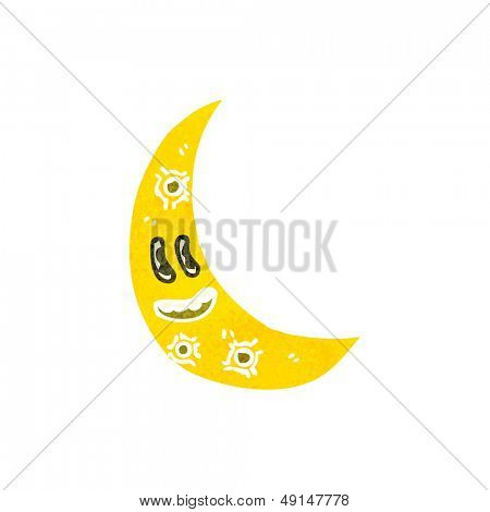 retro cartoon cresent moon