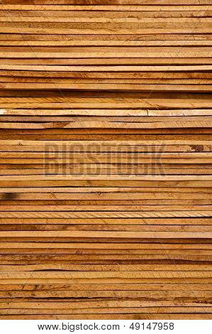 Stack Of Rough Cut Wood Lumber