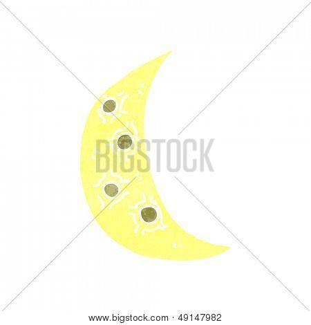 retro cartoon cresent moon