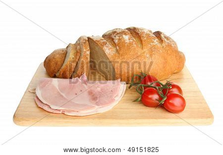 Bloomer Loaf Ham And Tomatoes