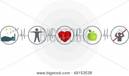 Abstract cardiogram