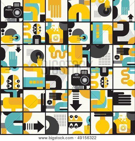 Photo man seamless pattern.