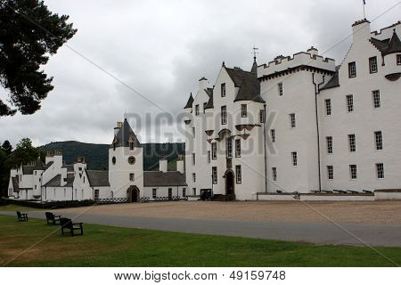 View of Blair castle in Perthshire in Scotland