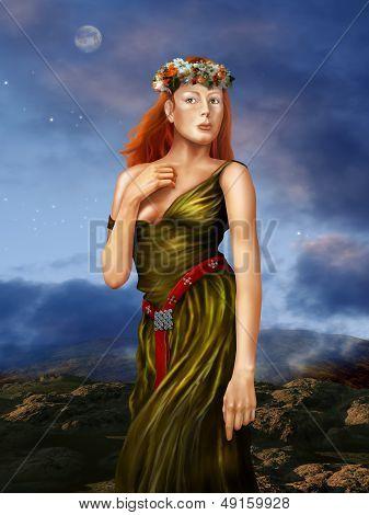 Pre Raphaelite Woman