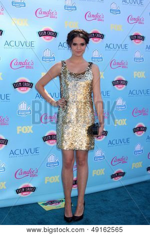 LOS ANGELES - AUG 11:  Maia Mitchell at the 2013 Teen Choice Awards at the Gibson Ampitheater Universal on August 11, 2013 in Los Angeles, CA