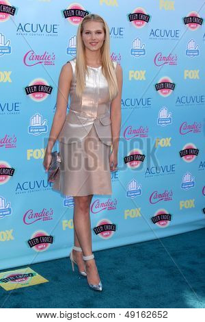 LOS ANGELES - AUG 11:  Claudia Lee at the 2013 Teen Choice Awards at the Gibson Ampitheater Universal on August 11, 2013 in Los Angeles, CA
