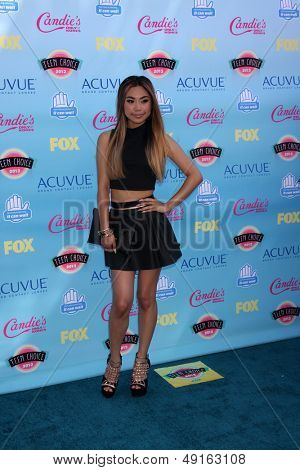 LOS ANGELES - AUG 11:  Jessica Sanchez at the 2013 Teen Choice Awards at the Gibson Ampitheater Universal on August 11, 2013 in Los Angeles, CA