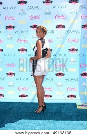LOS ANGELES - AUG 11:  Renee Bargh at the 2013 Teen Choice Awards at the Gibson Ampitheater Universal on August 11, 2013 in Los Angeles, CA
