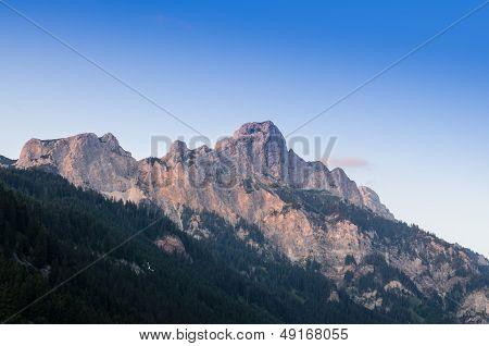 Blue Sky Over A Mountain In Tirol