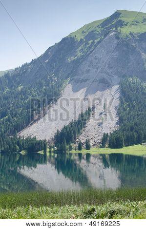 Mountain Slip In The Austrian Alps