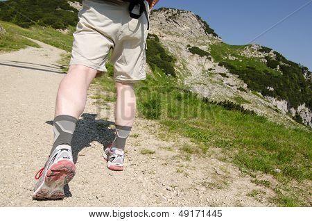 Climbing On A Mountain In Tirol Austria
