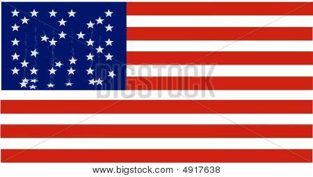 American Flag Falling Stars