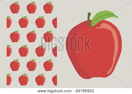 red apple in a simple way