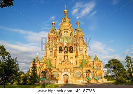 Sts. Peter and Paul Cathedral in Petergof, Saint-Petersburg, Russia.