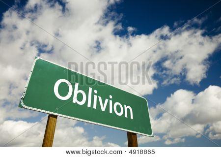 Oblivion Road Sign