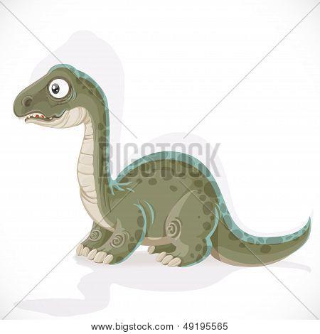 Little Brontosaurus Isolated On White Background