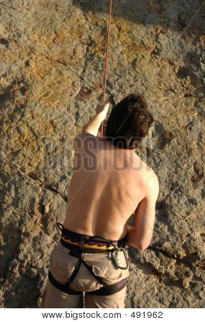 Man Belaying