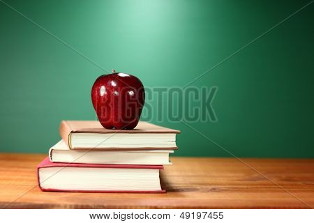 Stack of Books on A Desk for Back to School