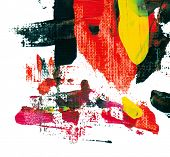 picture of acrylic painting  - abstract acrylic painting - JPG