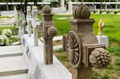 foto of headstones  - graveyard is garden open place is any place set aside for long - JPG