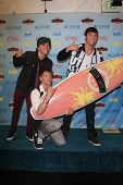 LOS ANGELES - AUG 11:  Emblem3 in the 2013 Teen Choice Awards Press Room at the Gibson Ampitheater U